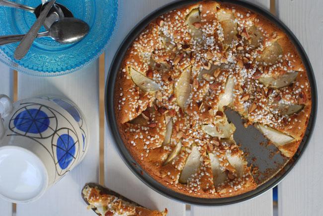 Kardemummakaka med äpple2